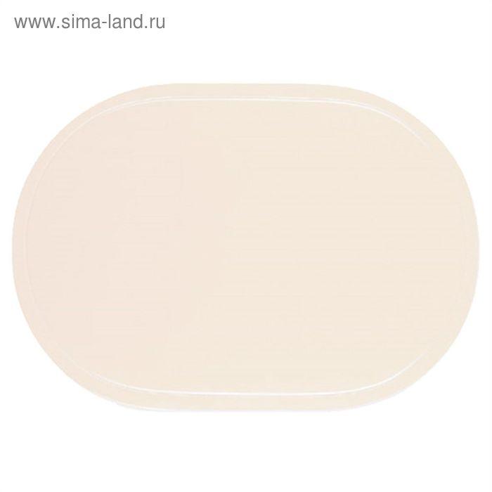 Салфетка овальная PVC Uni, размер 28x40 см, цвет бежевый 3581041
