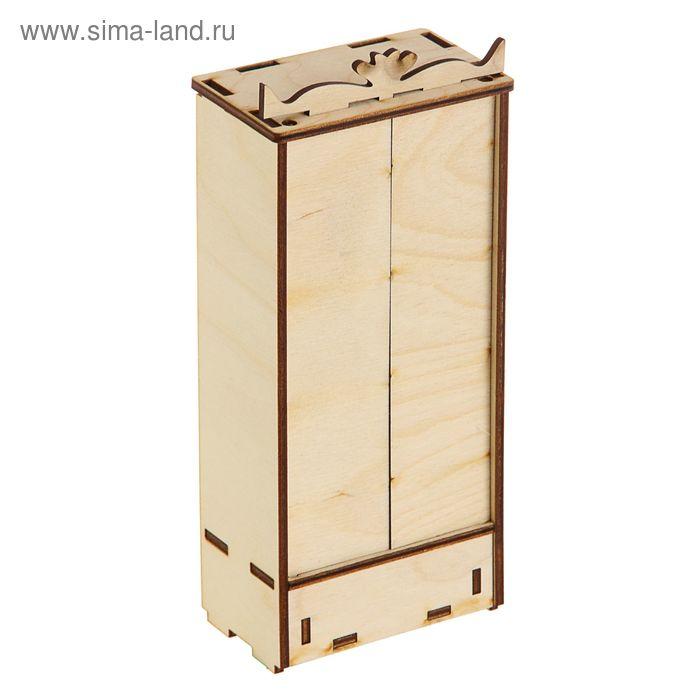 Заготовка Кукольная мебель Шкаф 98х60х223мм