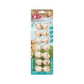 Косточки для мелких собак 8in1 DENTAL DELIGHTS XS,  с куриным мясом и минералами, 7х7,5 см