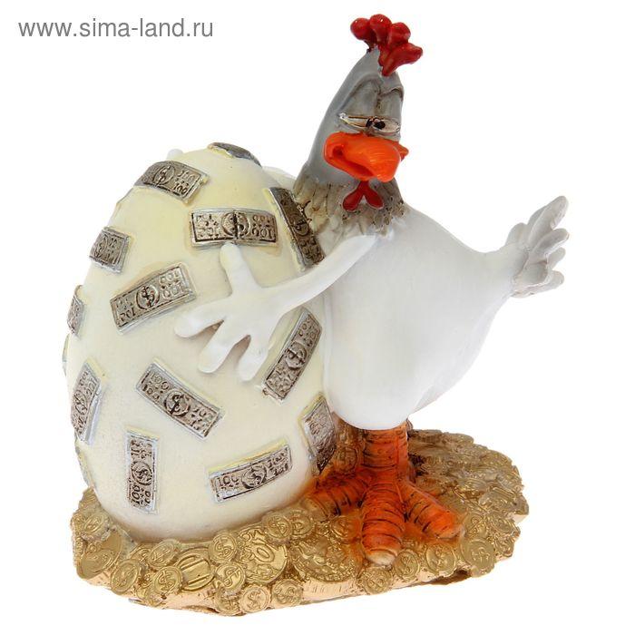 """Сувенир """"Курица и денежное яйцо"""" 14см"""