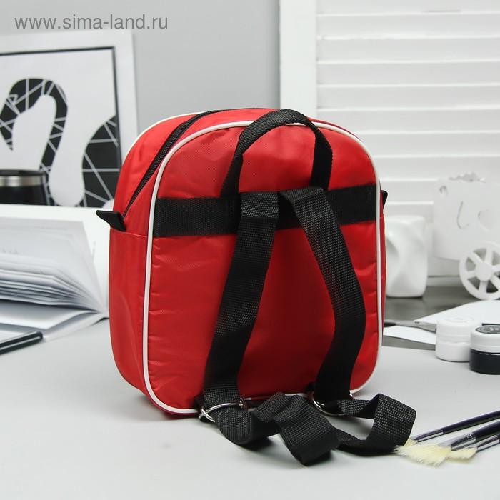 """Рюкзак детский на молнии """"Горох"""", 1 отдел, красный"""