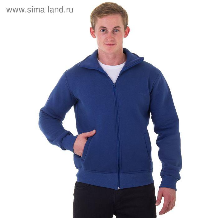 Джемпер-толстовка мужской на молнии арт.920, цвет джинс, р-р M