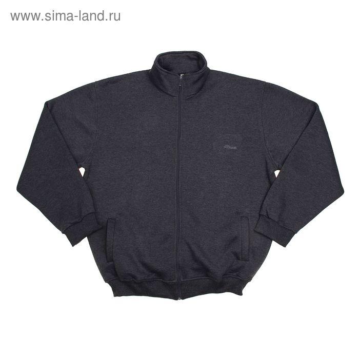 Джемпер-толстовка мужской на молнии арт.925, цвет антрацит, р-р 4XL