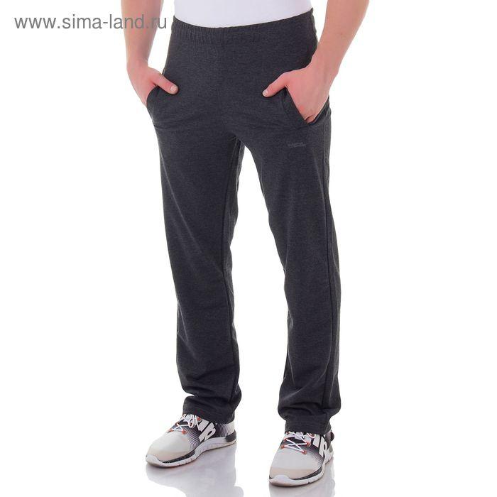 Брюки мужские спортивные арт.0156, цвет т/серый, р-р XL