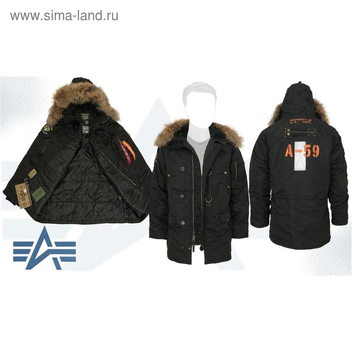 Куртка утеплённая N-3B 55 Parka (натуральный мех) Alpha Industries Black, M