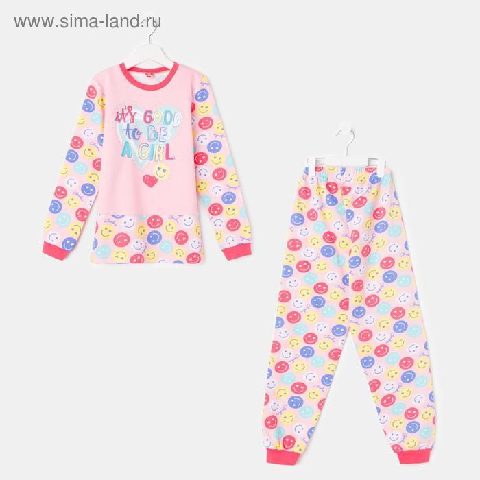 Пижама для девочки, рост 134 см (68), цвет персиковый CAJ 5257_Д