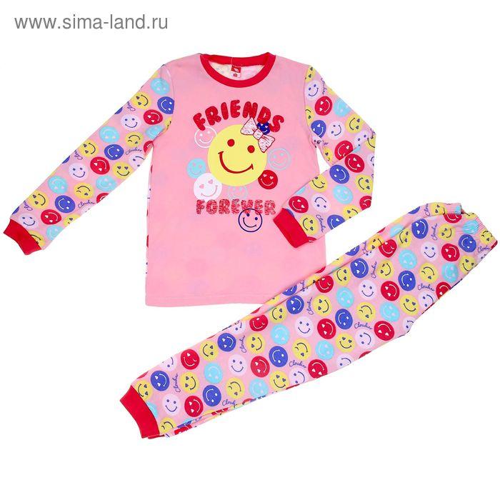 Пижама для девочки, рост 122 см (64), цвет персиковый CAK 5252_Д