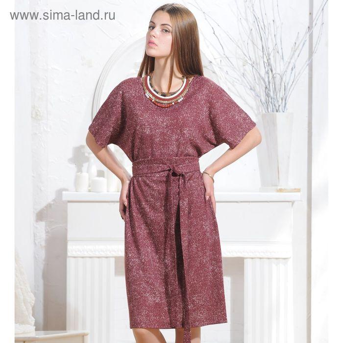 Платье 5069, размер 48, рост 164 см, цвет терракот/белый