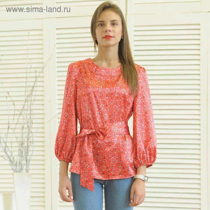 Блуза 5174 С+, размер 50, рост 164 см, цвет красный