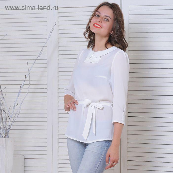Блуза 5172, размер 46, рост 164 см, цвет белый