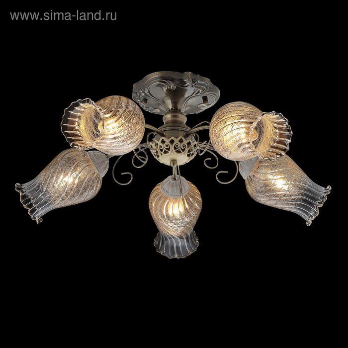 """Люстра """"Иолай"""" 5 ламп 60W Е14 античная бронза"""