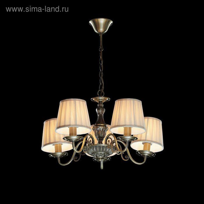 """Люстра """"Ливия"""" 5 ламп 60W Е14 бронза"""