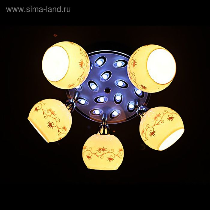 """Люстра """"Ночные огни"""" 5 ламп 60W Е27 хром"""