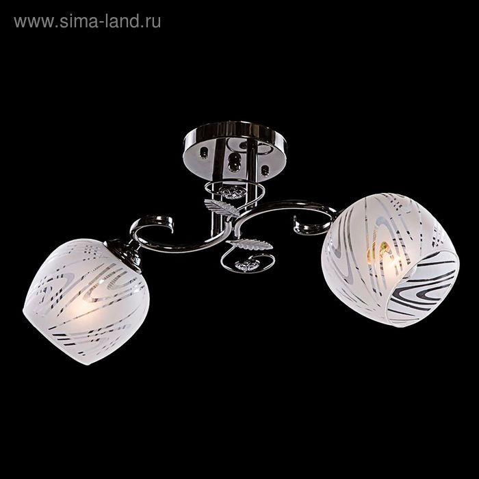 """Люстра """"Алексия"""" 2 лампы 40W Е27 черный/хром"""
