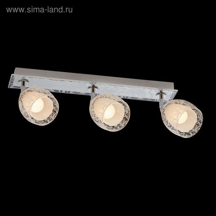 """Люстра """"Клеопа"""" 3 лампы 60W Е14 хром"""