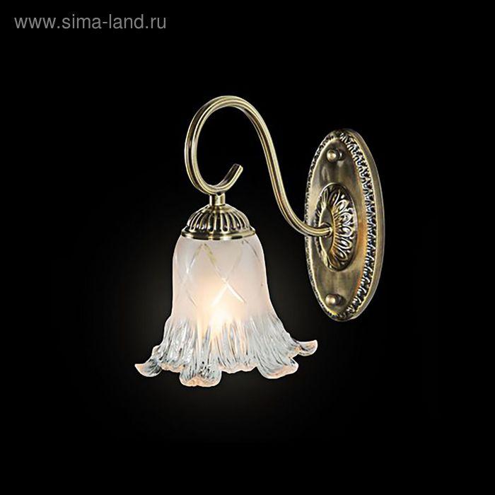 """Бра """"Милагрес"""" 1 лампа 60W Е14 античная бронза"""