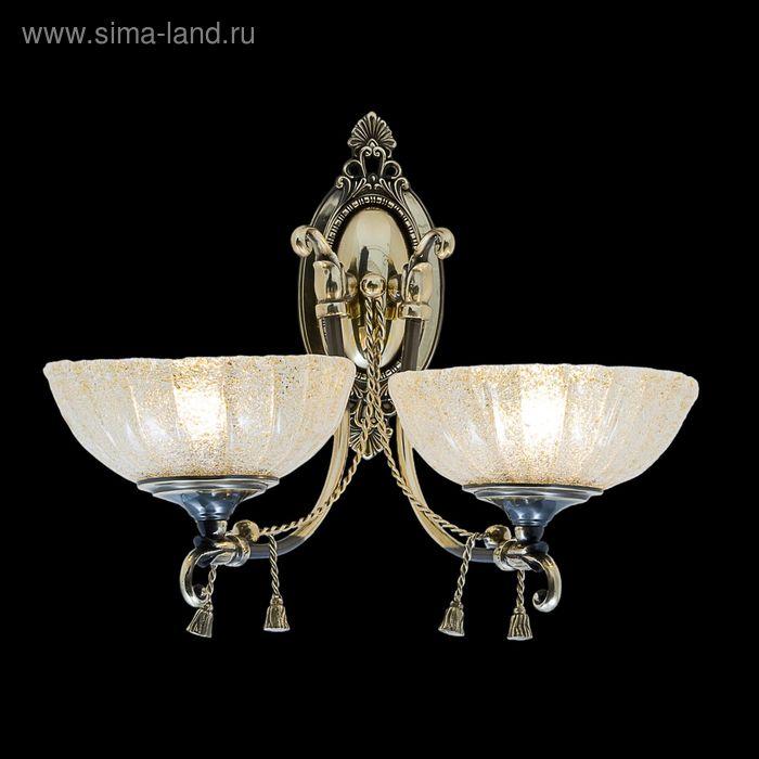 """Бра """"Ариэль"""" 2 лампы 40W Е27 античное золото"""