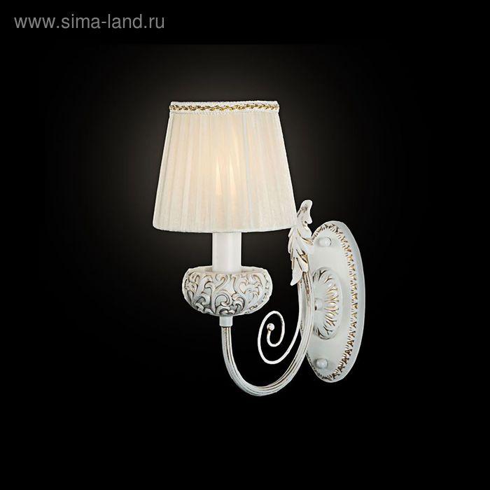"""Бра """"Морозко"""" 1 лампа 40W Е14 белый/золото"""