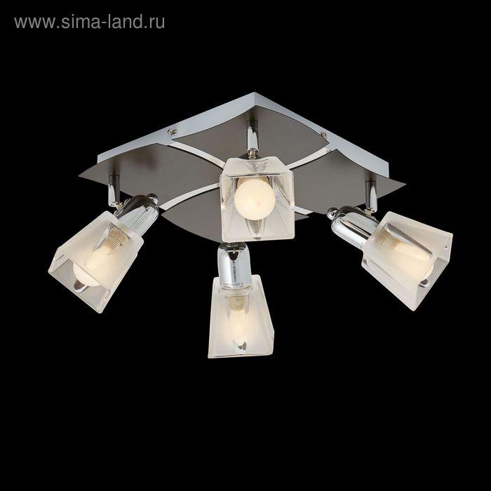 """Люстра """"Изольда"""" 4 лампы 60W Е14 хром/венге"""
