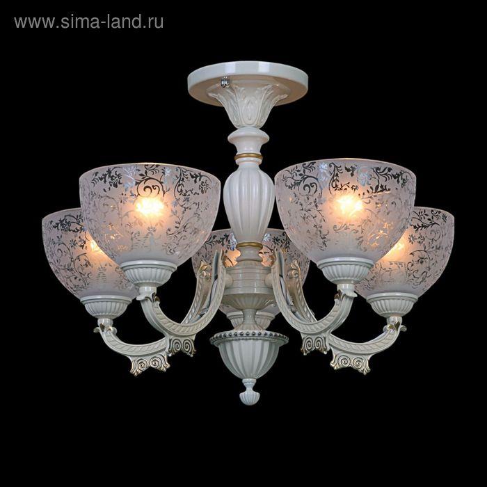 """Люстра """"Скиф"""" 5 ламп 60W Е27 белое золото"""