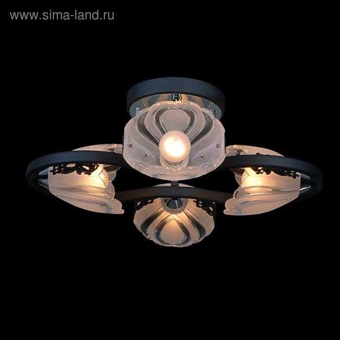 """Люстра """"Мидея"""" 4 лампы 60W Е14 черный хром"""
