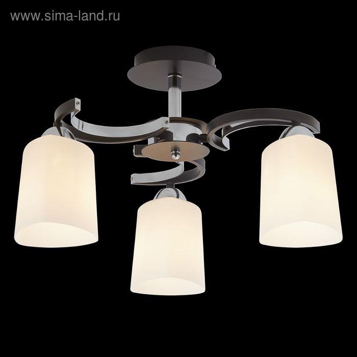 "Люстра ""Артемида"" 3 лампы 60W Е27 хром/венге"