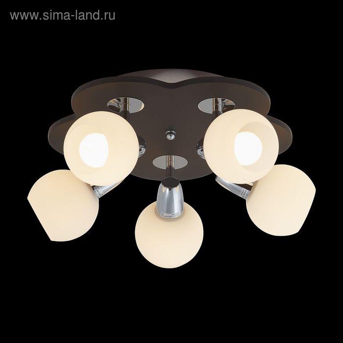 "Люстра ""Аура"" 5 ламп 60W Е14 хром/черный"