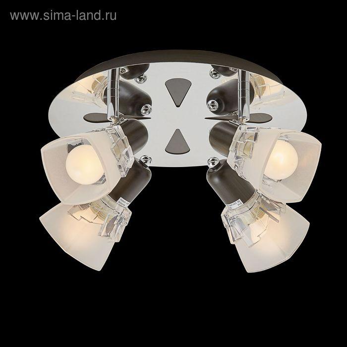 """Люстра """"Штиль"""" 4 лампы 60W Е14 хром/венге"""