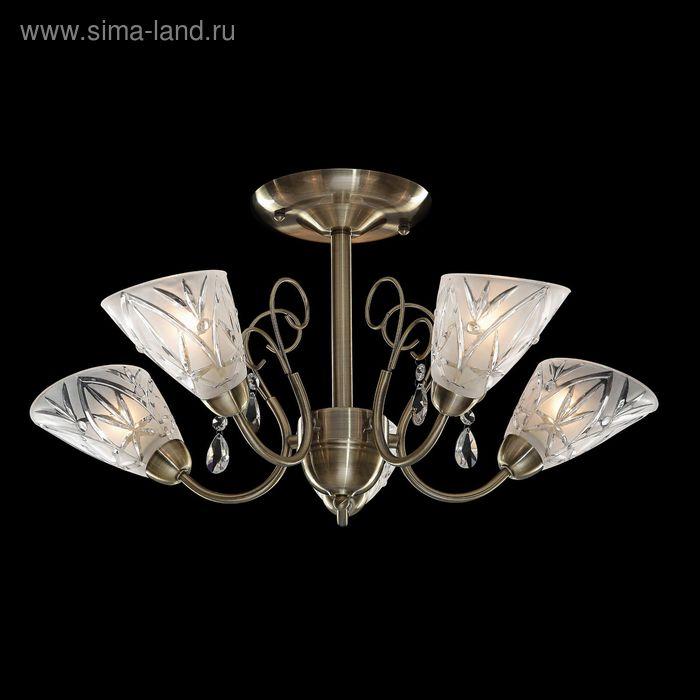 """Люстра """"Диктис"""" 5 ламп 60W Е14 античная бронза"""