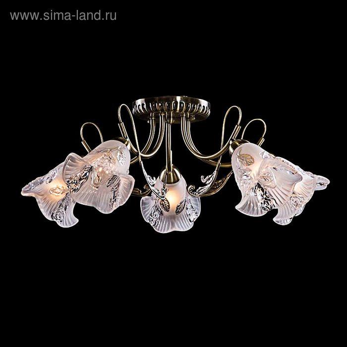 """Люстра """"Гретта"""" 5 ламп 60W Е14 античная бронза"""