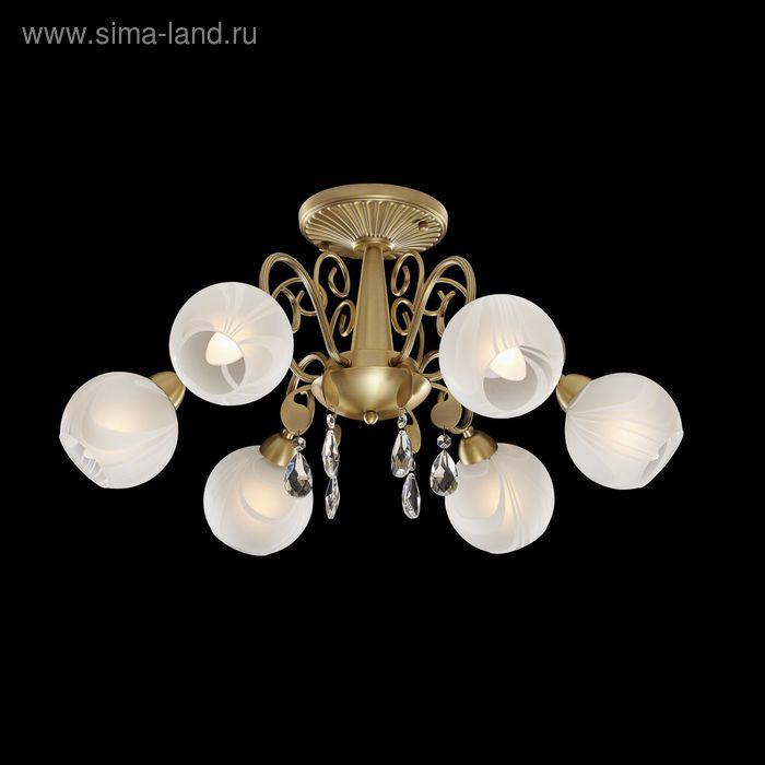 """Люстра """"Амфитрита"""" 6 ламп 60W Е14 античное золото"""