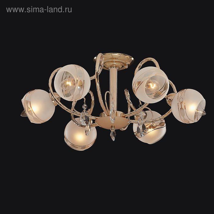 """Люстра """"Мелита"""" 6 ламп 60W Е14 золото"""