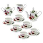 """Сервиз чайный """"Романс. Королева цветов"""" 15 предметов: 6 чашек чайных 250 мл, 6 блюдец чайных d=15 см чайник 800 мл, сахарница 550 мл, сливочник чайный 350 мл"""