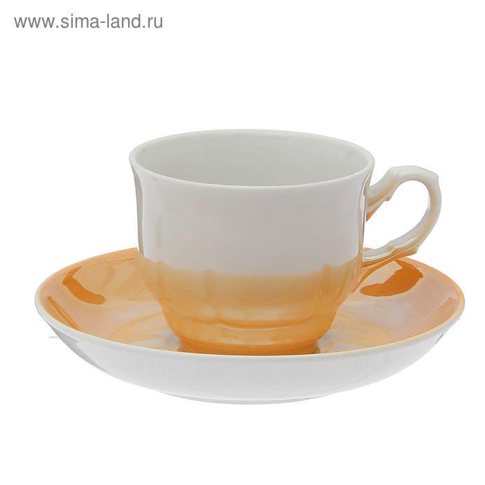 """Чайная пара """"Тюльпан"""": чашка чайная 250 мл, блюдце d=15 см, без деколи"""