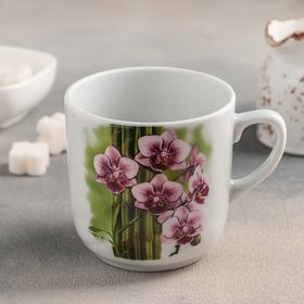 """Кружка 350 мл """"Лагуна. Бамбуковая орхидея"""""""