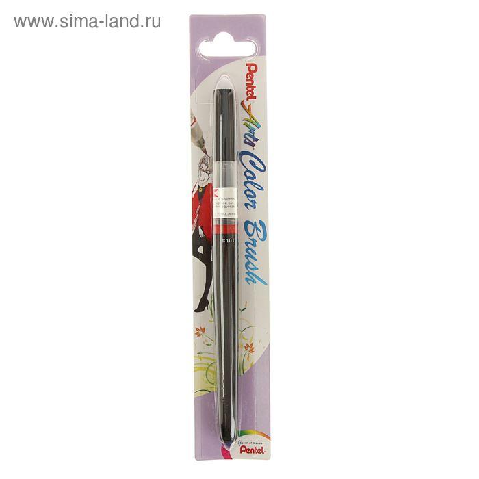 Акварель художественная жидкая в кисти Pentel Colour Brush черный XGFL-101, сменный картридж с краской
