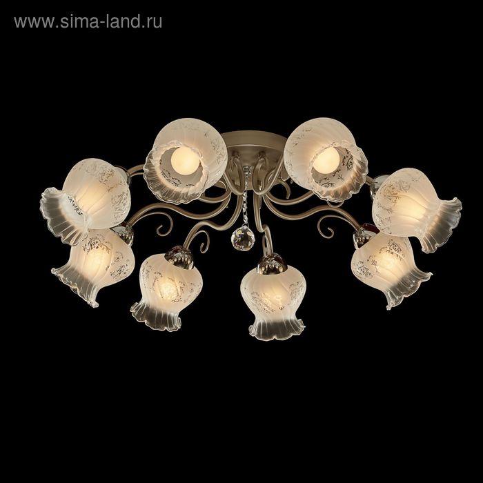 """Люстра """"Элиона"""" 8 ламп 60W Е14 никель"""