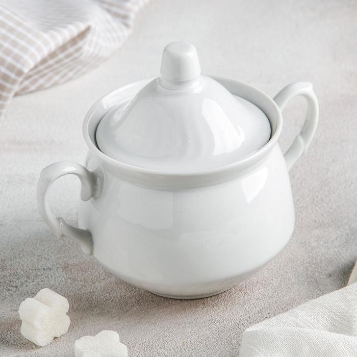 "Сахарница 450 мл ""Кирмаш"", цвет белый"