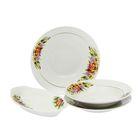 """Сервиз столовый 37 предметов, 2 вида тарелок, """"Идиллия. Фиалка"""""""