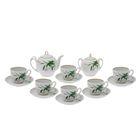 """Сервиз чайный """"Гармония. Бутон"""", 14 предметов: чайник 700 мл, 6 чашек 200 мл, 6 блюдец d=14 cм, сахарница 450 мл"""