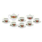 """Сервиз чайный """"Гармония. Фиалка"""", 14 предметов: чайник 700 мл, 6 чашек 200 мл, 6 блюдец d=14 cм, сахарница 450 мл"""