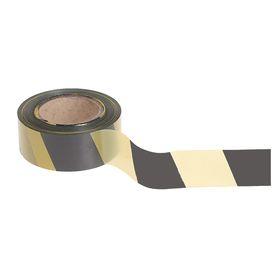 Лента оградительная, эконом, чёрно-жёлтая, ширина 5 см, 200 м Ош