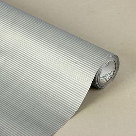Бумага упаковочная крафт, двусторонняя серебряная, 0.5 х 10 м