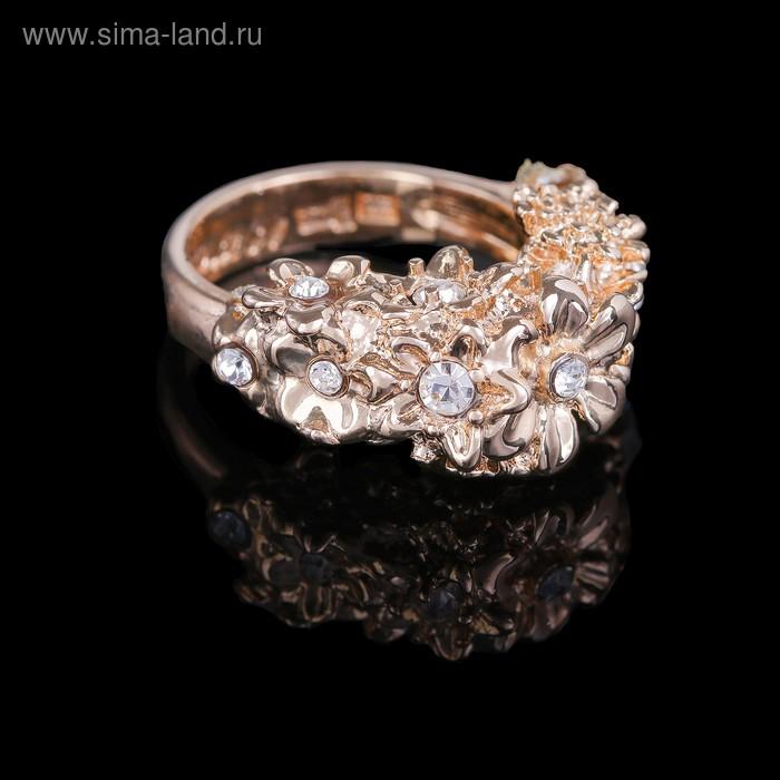 """Кольцо """"Бабаса"""", размер 21, цвет бело-радужный в золоте"""