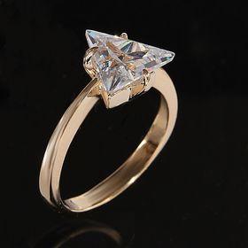 """Кольцо """"Чандра"""", размер 17, цвет белый в золоте"""
