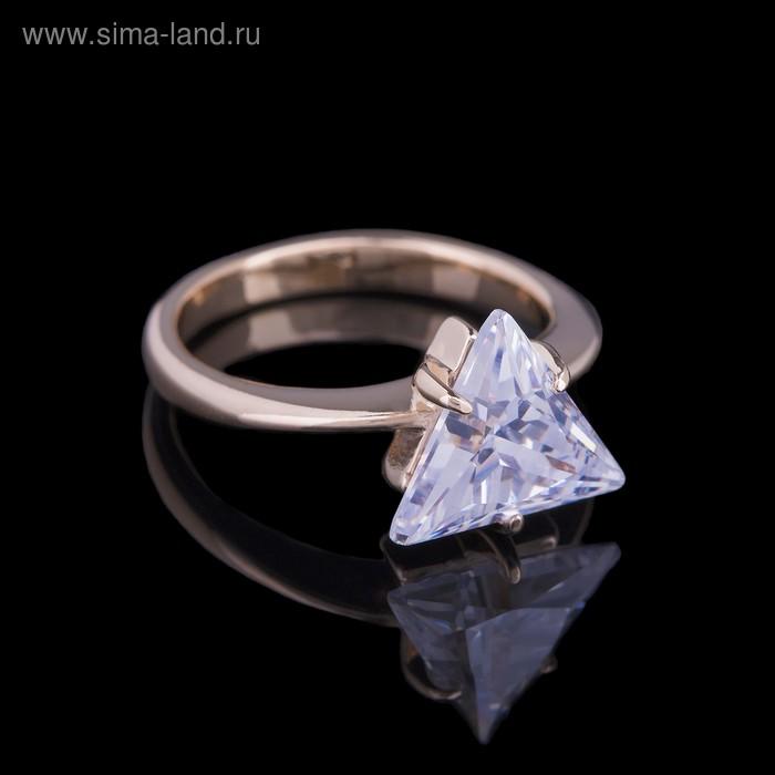 """Кольцо """"Чандра"""", размер 19, цвет белый в золоте"""
