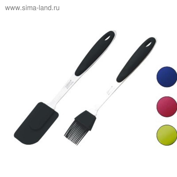 Набор кухонных принадлежностей CALVE, 2 предмета: лопатка, кисточка, силикон