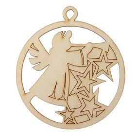 Ёлочное украшение для декора 'Шарик с ангелом' Ош