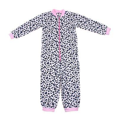 Комбинезон для девочки, рост 110 см, цвет белый, принт леопард (арт. 621772-2_Д)