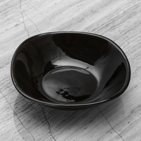 "Тарелка ""Футур"" глубокая, чёрная, 0,4 л"